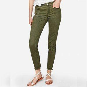 Express Mid Rise Five Pocket Legging Ankle Jeans
